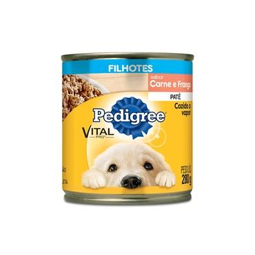 Patê em Lata Pedigree para Cães Filhotes Sabor Carne & Frango 280g