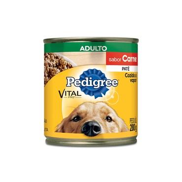 Patê Pedigree para Cães Adultos Sabor Carne Lata 280 g