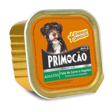 Patê Primocão Premium para Cães Adultos Sabor Carne e Vegetais 300 g