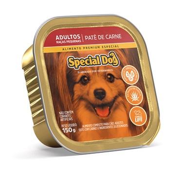 Patê Special Dog para Cães Adultos de Raças Pequenas Sabor Carne 150 g