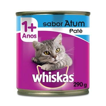 Patê Whiskas para Gatos Adultos Sabor Atum Lata 290 g