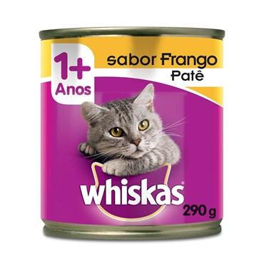 Patê Whiskas para Gatos Adultos Sabor Frango Lata 290 g