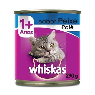 Patê Whiskas para Gatos Adultos Sabor Peixe Lata 290 g