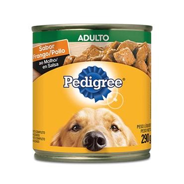 Pedigree para Cães Adultos Sabor Frango ao Molho Lata 290g