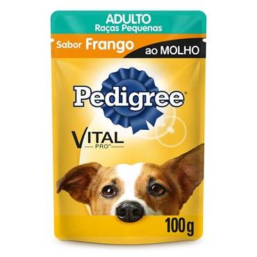 Pedigree Sachê Sabor Frango ao Molho Para Cães Adultos de Raças Pequenas 100g