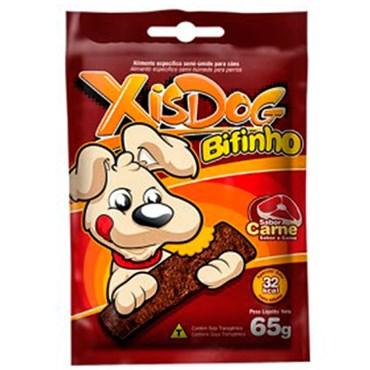 Petisco Bifinho Xisdog para Cães de Sabor Carne 65g