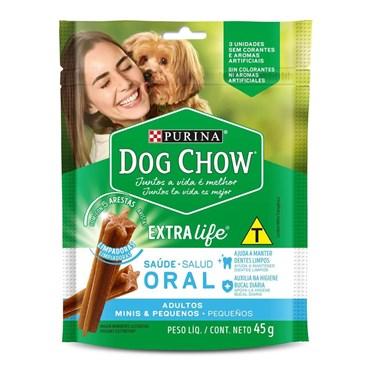Petisco Dog Chow Extra Life Saúde Oral para Cães Adultos Raças Mini e Pequenas