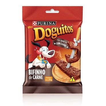 Petisco Doguitos Purina para Cães Sabor Bifinho de Carne 65g