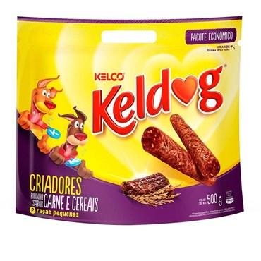 Petisco Keldog Bifinho Sabor Carne e Cereais Raças Pequenas 500g