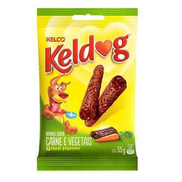 Petisco Keldog Sabor Carne e Vegetais para Cães de Raças Pequenas 55g
