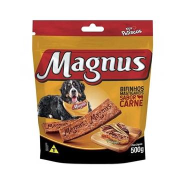 Petisco Magnus Bifinho Mastigável para Cães Sabor Carne