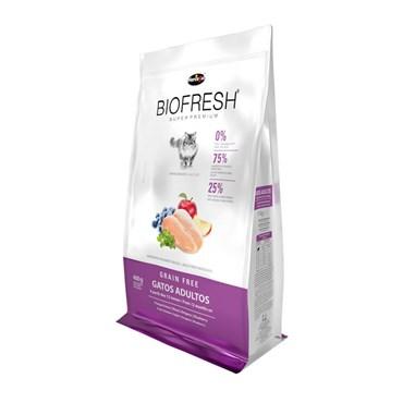 Ração Biofresh para Gatos Adultos Sabor Frango Fresco, Maçã, Orégano e Blueberry