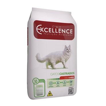 Ração Cat Excellence Sabor Carne para Gatos Castrados