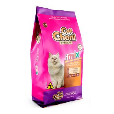 Ração CatChoni Premium Mix de Sabores para Gatos Adultos e Filhotes 10,1kg