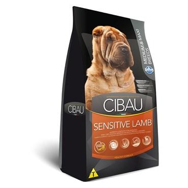 Ração Cibau Sensitive Lamb para Cães Adultos de Raças Médias e Grandes 12 kg