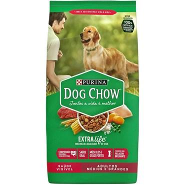 Ração Dog Chow para Cães Adultos de Raças Médias e Grandes Sabor Carne e Vegetais 3kg