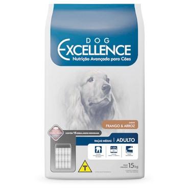 Ração Dog Excellence Cães Adultos de Raças Médias Frango e Arroz 15 kg