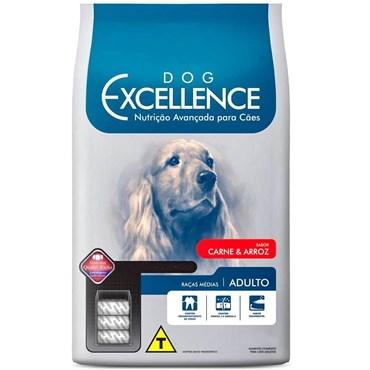 Ração Dog Excellence Cães Adultos Raças Médias Carne e Arroz 3 kg