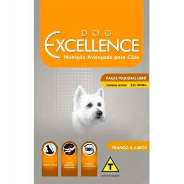 Ração Dog Excellence Cães Adultos  Raças Pequenas Light 10,1 kg