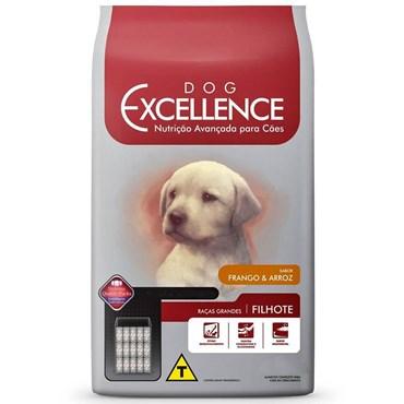 Ração Dog Excellence Cães Filhotes Raças Grandes Frango e Arroz 15 kg