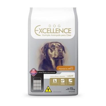 Ração Dog Excellence Light Cães Adulto Frango e Arroz 15kg