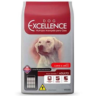 Ração Dog Excellence para Cães Adultos Raças Grandes Sabor Carne e Arroz 15 kg