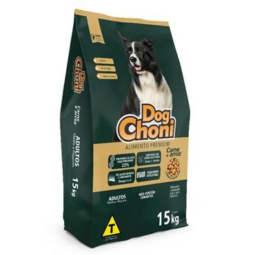 Ração DogChoni Premium Cães Adultos Sabor Carne 15 Kg