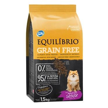 Ração Equilíbrio Grain Free Mature para Cães Sênior de Mini e Pequeno Porte 1,5kg