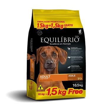 Ração Equilíbrio para Cães Adultos de Raças Grandes e Gigantes 16,5kg - Leve 16,5kg e Pague 15kg