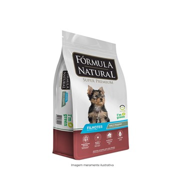 Ração Fórmula Natural Cães Filhotes Porte Pequeno e Mini 1kg