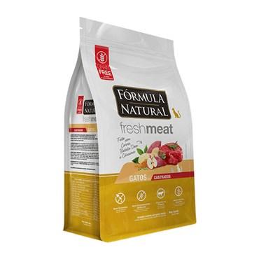 Ração Fórmula Natural Fresh Meat Gatos Adultos Castrados Sabor Carne