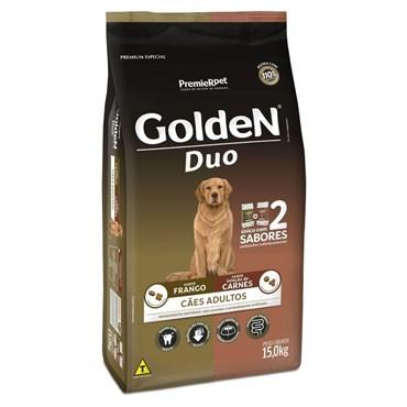 Ração Golden Duo Cães Adultos Raças Médias e Grandes Sabor Carne e Frango 15 kg
