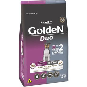 Ração Golden Duo Cães Adultos Raças Pequenas Sabor Salmão Com Ervas e Cordeiro 3kg