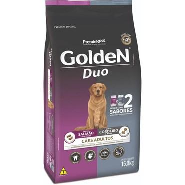 Ração Golden Duo Cães Adultos Sabor Salmão Com Ervas e Cordeiro Com Arroz 15kg