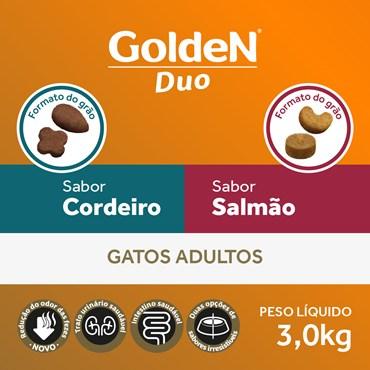 Ração Golden Duo Para Gatos Adultos Sabor Cordeiro e Salmão