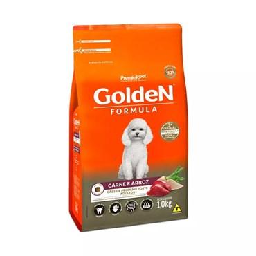 Ração Golden Fórmula Mini Bits Cães Adultos Raças Pequenas Sabor Carne e Arroz