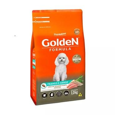 Ração Golden Fórmula Mini Bits Cães Adultos Raças Pequenas Sabor Frango e Arroz