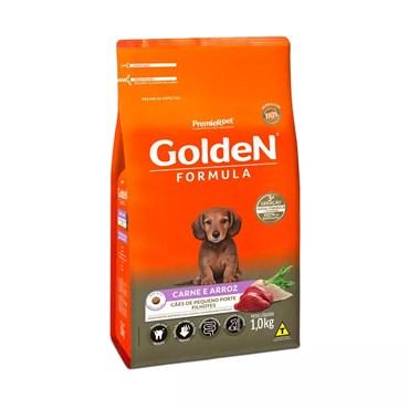 Ração Golden Fórmula Mini Bits Cães Filhotes Raças Pequenas Sabor Carne e Arroz