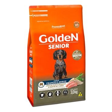 Ração Golden Fórmula Mini Bits Cães Sênior Raças Pequenas Sabor Frango e Arroz