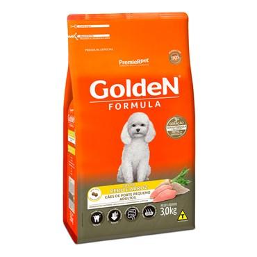 Ração Golden Fórmula Mini Bits para Cães Adultos Raças Pequenas Sabor Peru e Arroz