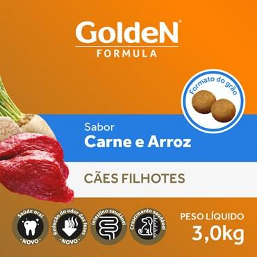 Ração Golden Fórmula Para Cães Filhotes Sabor Carne e Arroz