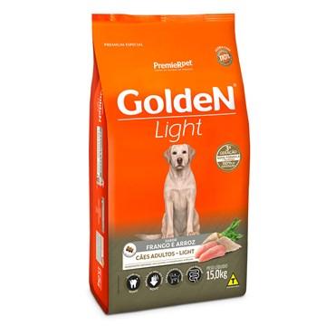 Ração Golden Light Para Cães Adultos Sabor Frango e Arroz 15kg