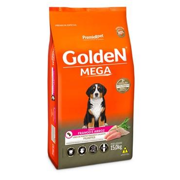 Ração Golden Mega para Cães Filhotes Raças Grandes Sabor Frango e Arroz 15kg