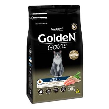 Ração Golden Para Gatos Castrados Sênior Sabor Frango
