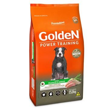 Ração Golden Power Training Cães Adultos Sabor Frango e Arroz 15kg