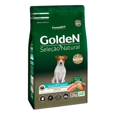 Ração Golden Seleção Natural Mini Bits Cães Adultos Raças Pequenas Sabor Frango e Arroz