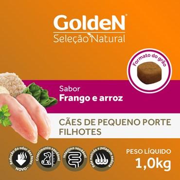 Ração Golden Seleção Natural Mini Bits para Cães Filhotes Raças Pequenas Sabor Frango e Arroz