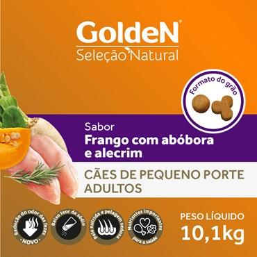 Ração Golden Seleção Natural para Cães Adultos de Raças Pequenas Sabor Abóbora e Alecrim