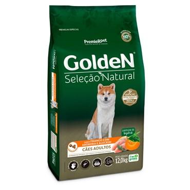 Ração Golden Seleção Natural para Cães Adultos Sabor Abóbora e Alecrim