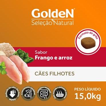 Ração Golden Seleção Natural para Cães Filhotes Sabor Frango e Arroz